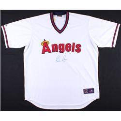Nolan Ryan Signed Angels Throwback Jersey (JSA COA  Ryan Hologram)