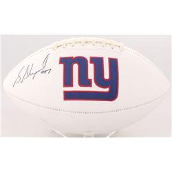 Sterling Shepard Signed Giants Logo Football (JSA COA)