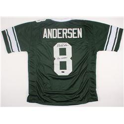 """Morten Andersen Signed Jersey Inscribed """"Go Green"""" (Radtke COA)"""