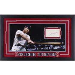 Ted Williams Signed Red Sox 16.5x26.5 Custom Framed Index Card Display (JSA LOA)