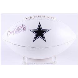 "Daryl Johnston Signed Cowboys Logo Football Inscribed ""Moose"" (Radtke COA)"