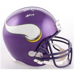 "Brett Favre Signed Vikings Full-Size Helmet Inscribed ""HOF 16"" (Favre COA)"