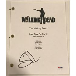 "Greg Nicotero Signed ""The Walking Dead"" Episode Full Script (PSA COA)"
