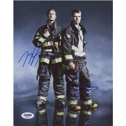 "Taylor Kinney  Jesse Spencer Signed ""Chicago Fire"" 8x10 Photo (PSA COA)"