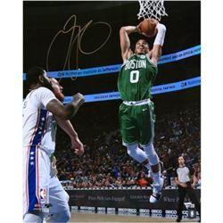 """Jayson Tatum Signed Celtics """"Dunking"""" 16x20 Photo (Fanatics Hologram)"""