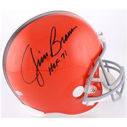 """Jim Brown Signed Cleveland Browns Full-Size Helmet Inscribed """"HOF 71"""" (Radtke COA)"""
