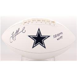 "Troy Aikman Signed Cowboys Logo Football Inscribed ""SB XXVII MVP"" (Radtke COA  Aikman Hologram)"