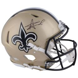 Alvin Kamara Signed Saints Full-Size Authentic On-Field Speed Helmet (Fanatics Hologram)