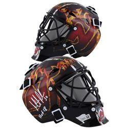 """Martin Brodeur Signed Devils Mini Goalie Mask Inscribed """"2018 HOF"""" (Fanatics Hologram)"""