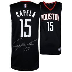 Clint Capella Signed Rockets Jersey (Fanatics Hologram  TriStar Hologram)