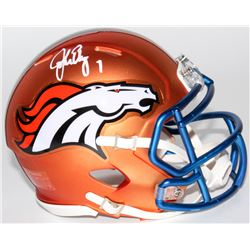 John Elway Signed Broncos Mini Blaze Speed Helmet (Radtke COA)