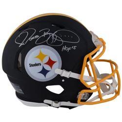 Jerome Bettis Signed Steelers Custom Matte Black Full-Size Authentic On-Field Speed Helmet Inscribed