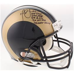 "Marshall Faulk Signed Rams Full-Size Authentic On-Field Helmet Inscribed ""HOF 20XI"", ""2000 MVP"", ""94"