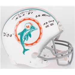 Larry Csonka Signed Dolphins Full-Size Authentic On-Field Throwback Helmet with Multiple Inscription
