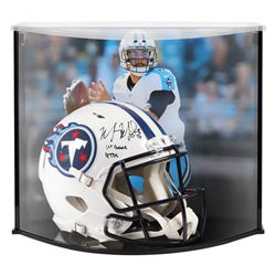 "Marcus Mariota Signed Titans Full-Size Authentic On-Field Speed Helmet Inscribed ""1st Games 4TDs"" wi"