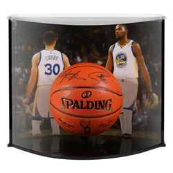 Kevin Durant  Stephen Curry Signed LE Warriors NBA Championships NBA Game Ball Series Basketball Wit