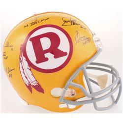 Redskins Full-Size Throwback Helmet Signed by (5) with Billy Kilmer, Mark Rypien, Joe Theisman, Sonn