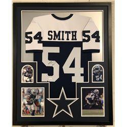 Jaylon Smith Signed 34x42 Custom Framed Jersey (JSA COA)
