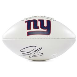 Saquon Barkley Signed Giants Logo Football (Panini COA)