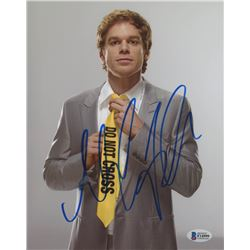 "Michael C. Hall Signed ""Dexter"" 8x10 Photo (Beckett COA)"