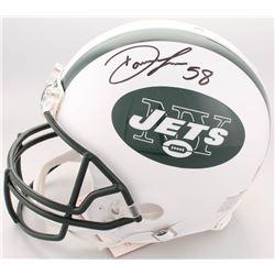 Darron Lee Twice-Signed Jets Full-Size Authentic On-Field Helmet (JSA Hologram)