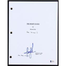 """Joshua Jackson Signed """"The Mighty Ducks"""" Movie Script (Beckett COA)"""