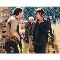 """Andrew Lincoln  Norman Reedus Signed """"The Walking Dead"""" 11x14 Photo (PSA COA)"""