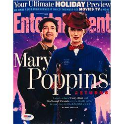 "Emily Blunt  Lin-Manuel Miranda Signed ""Mary Poppins Returns"" 8x10 Entertainment Weekly Photo (PSA C"