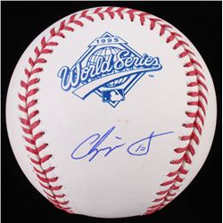 Chipper Jones Signed 1995 World Series Logo Baseball (JSA COA)