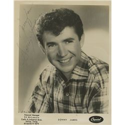 """Sonny James Signed 8x10 Photo Inscribed """"Young Love"""" (JSA COA)"""