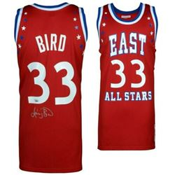Larry Bird Signed Mitchell  Ness 1993 NBA All-Star Authentic Jersey (Fanatics Hologram)