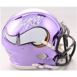 Adrian Peterson Signed Minnesota Vikings Chrome Speed Mini Helmet (Beckett COA)