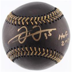 "Frank Thomas Signed OML Black Leather Baseball Inscribed ""HOF 2014"" (JSA COA)"