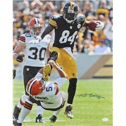 Antonio Brown Signed Pittsburgh Steelers 16x20 Photo (JSA COA)
