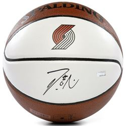 Damian Lillard Signed Portland Trail Blazers Logo NBA Basketball (Panini COA)