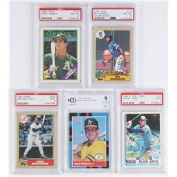 Lot of (5) Graded Baseball Cards with 1982 O-Pee-Chee #125 Danny Ainge (PSA 9), 1988 Donruss #256 Ma