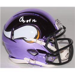 "Chris Doleman Signed Minnesota Vikings Chrome Speed Mini-Helmet Inscribed ""HOF 12"" (Radtke COA)"