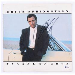 "Bruce Springsteen Signed ""Tunnel of Love"" Vinyl Record Album Cover (Beckett LOA)"