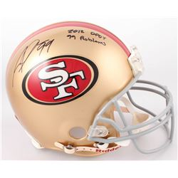 """Aldon Smith Signed San Francisco 49ers Full-Size Authentic Helmet Inscribed """"2012 DPOY""""  """"99 Problem"""