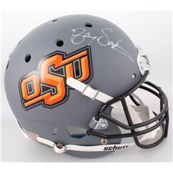 Barry Sanders Signed Oklahoma State Cowboys Full-Size Helmet (Schwartz Hologram)