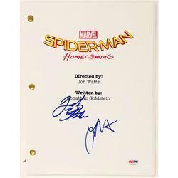 "Jacob Batalon  Laura Harrier Signed ""Spider-Man: Homecoming"" Full Movie Script (PSA COA)"