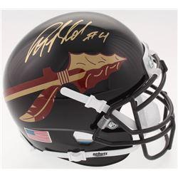 Anquan Boldin Signed Florida State Seminoles Mini-Helmet (JSA COA)