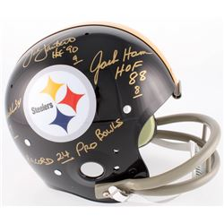 Jack Ham, Jack Lambert  Andy Russell Signed Pittsburgh Steelers Throwback Full-Size Suspension Helme