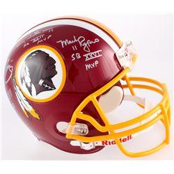 Mark Rypien, Doug Williams  John Riggins Signed Washington Redskins Full-Size Helmet With (3) Inscri