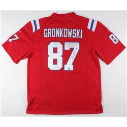 Rob Gronkowski Signed New England Patriots Throwback Jersey (JSA COA)