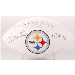 """Dermontti Dawson Signed Pittsburgh Steelers Logo Football Inscribed """"HOF 12"""" (Jersey Source COA)"""