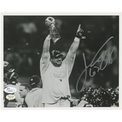 Joe Andruzzi Signed New England Patriots Super Bowl 8x10 Photo (JSA COA)