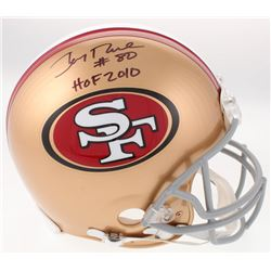 """Jerry Rice Signed San Francisco 49ers Full-Size Authentic On-Field Helmet Inscribed """"HOF 2010"""" (Beck"""