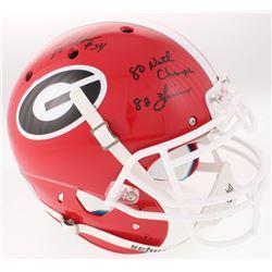 Herschel Walker Signed Georgia Bulldogs Full-Size Authentic On-Field Helmet with Multiple Inscriptio