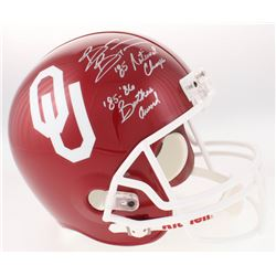 """Brian Bosworth Signed Oklahoma Sooners Full-Size Helmet Inscribed """"'85 National Champs""""  """"'85-'86 Bu"""